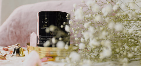 LightSeed Fragranced Crystal Intention Candle NZ