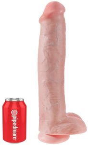 "15"" x 3"" - King Cock 15 Inch Cock with Balls - Tan"
