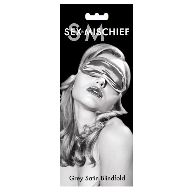 S&M Grey Satin Blindfold