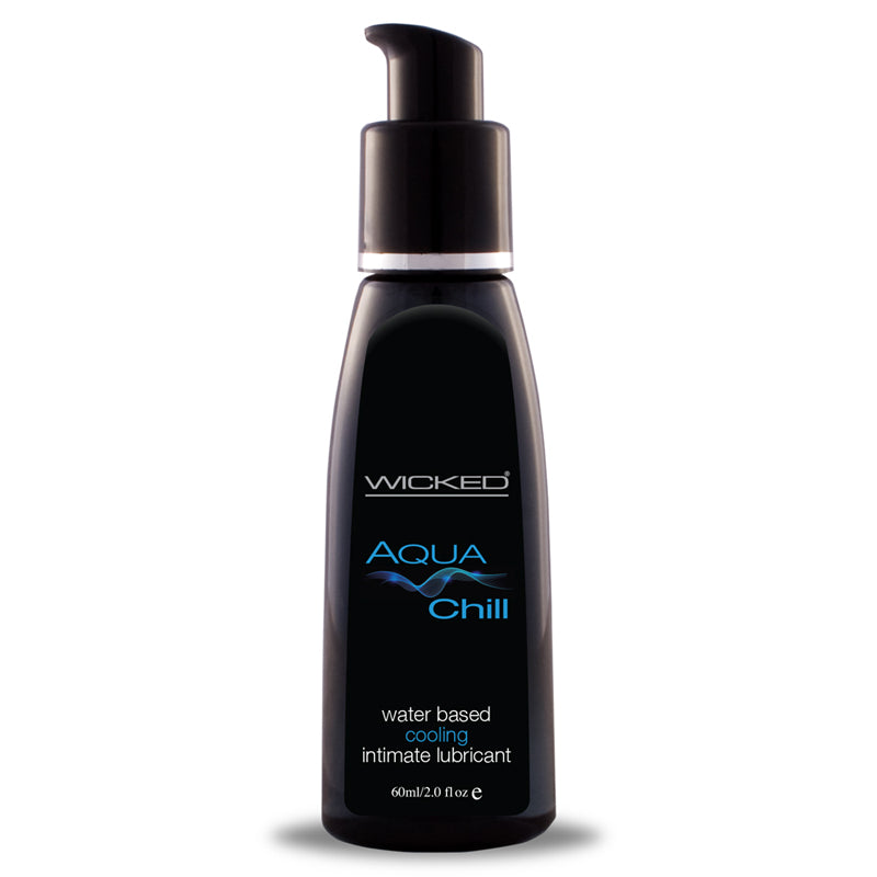Wicked Aqua Chill Waterbased cooling sensatioln Lubricant 2oz.