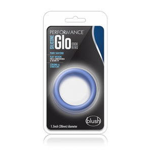 Performance - Silicone Glo Cock Ring - Blue Glow