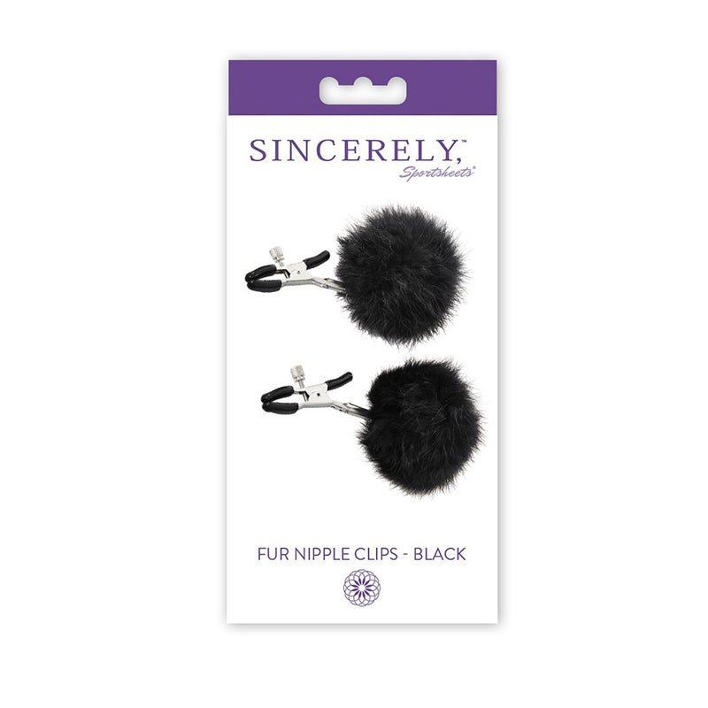 Sincerely, SS Fur Nipple Clips-Black