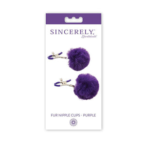 Sincerely, SS Fur Nipple Clips-Purple
