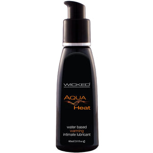 Wicked Aqua Heat Waterbased Warming Sensation Lubricant 4oz