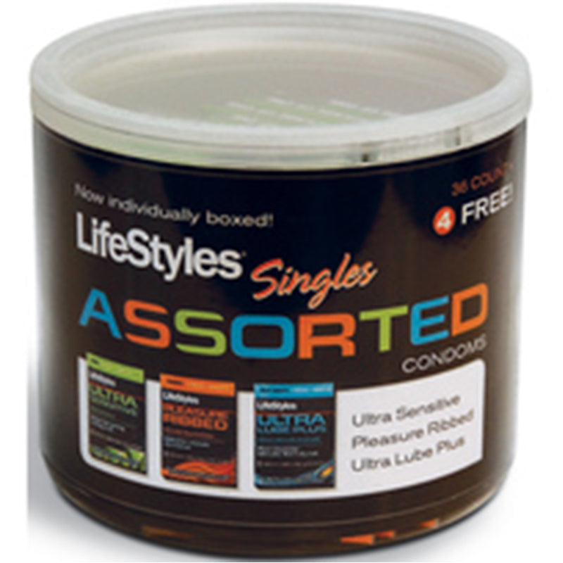 LifeStyles Assorted Singles Jar (40ct)