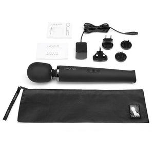 Le Wand Rechargeable Vibrating Wand Massager - Black