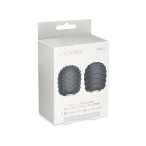 Le Wand Silicone Textured Covers - Black
