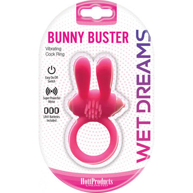 Wet Dreams Bunny Buster Cock Ring With Turbo Bunny
