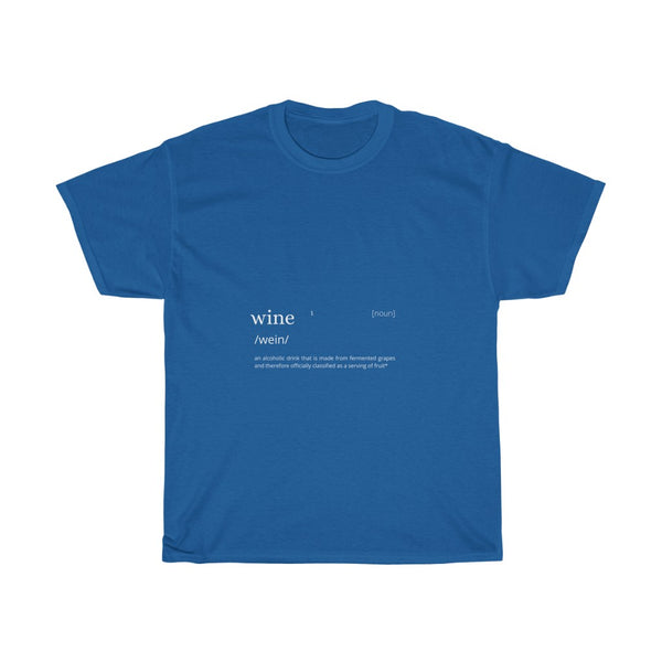 Wine Definition Unisex Heavy Cotton Tee