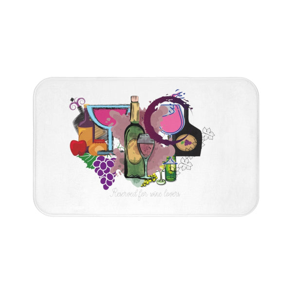 Reserved For Wine Lovers Bath Mat