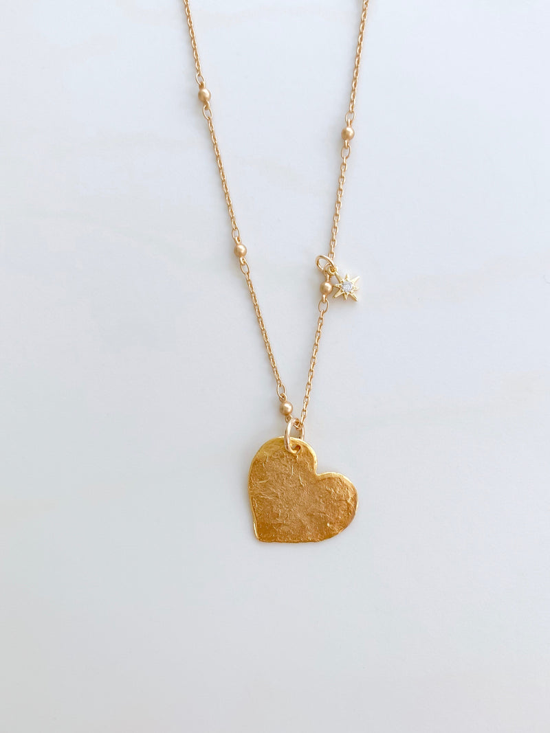 Heart String Long Necklace
