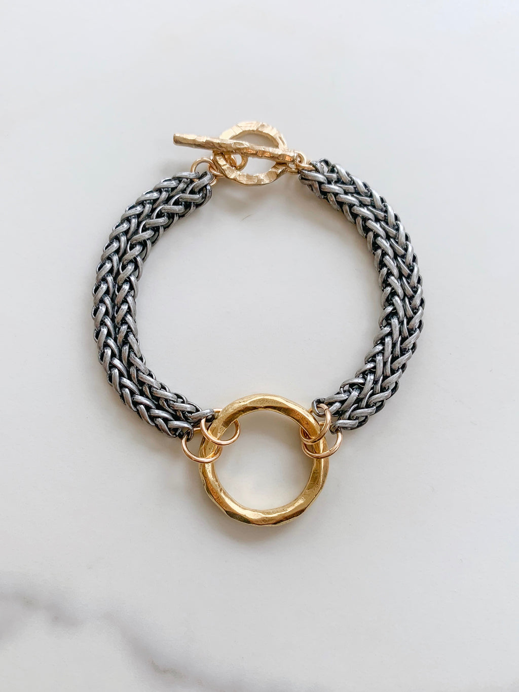 Circle of Trust Bracelet in Black and Gold