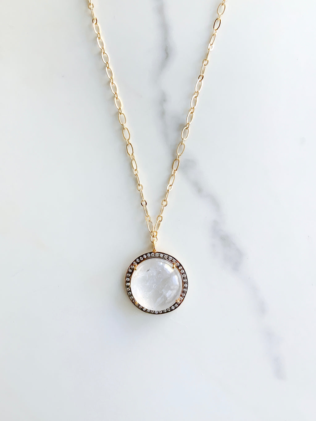 The Belle of the Ball Moonstone Necklace
