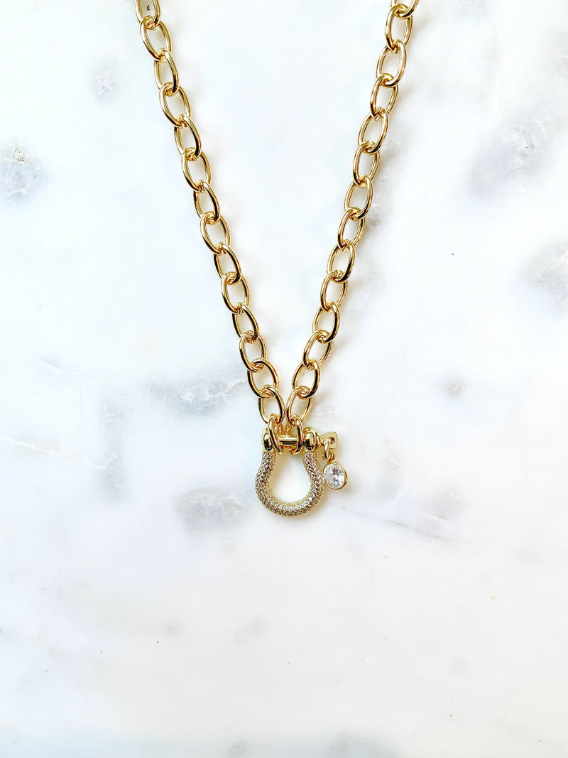 Golden Horseshoe Necklace