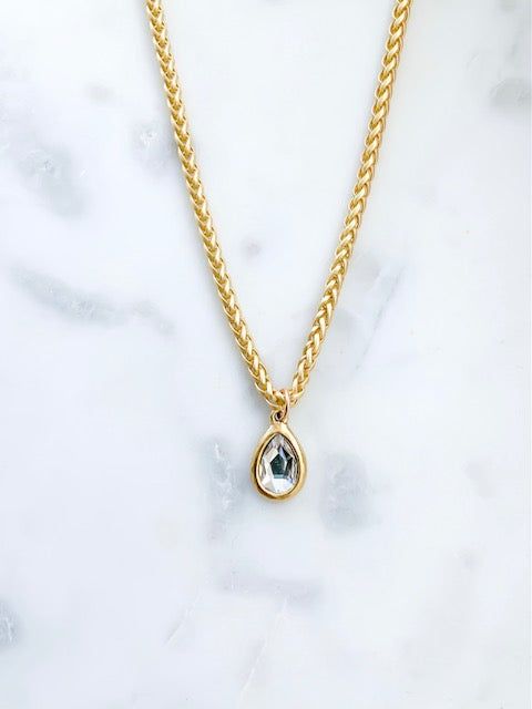 Teardrop Crystal Necklace