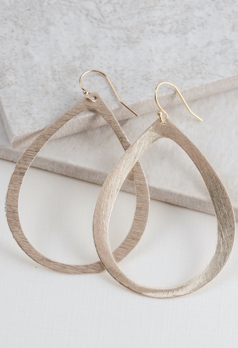 Classic Teardrop Hoop Earrings in Gold by Few Made