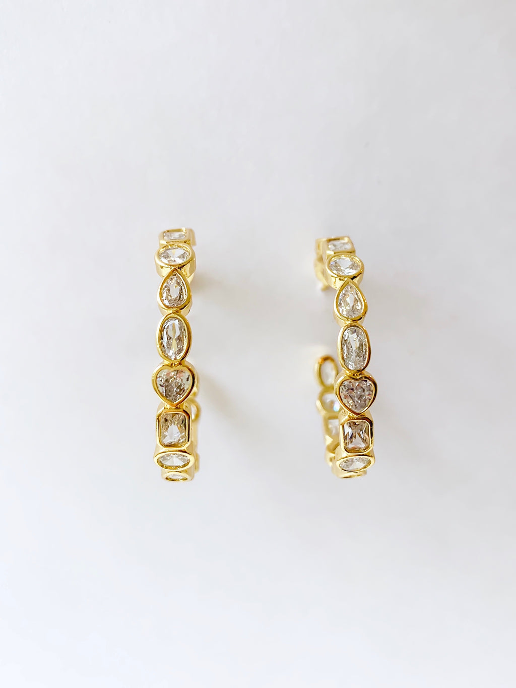 Glory Cz Hoop Earrings