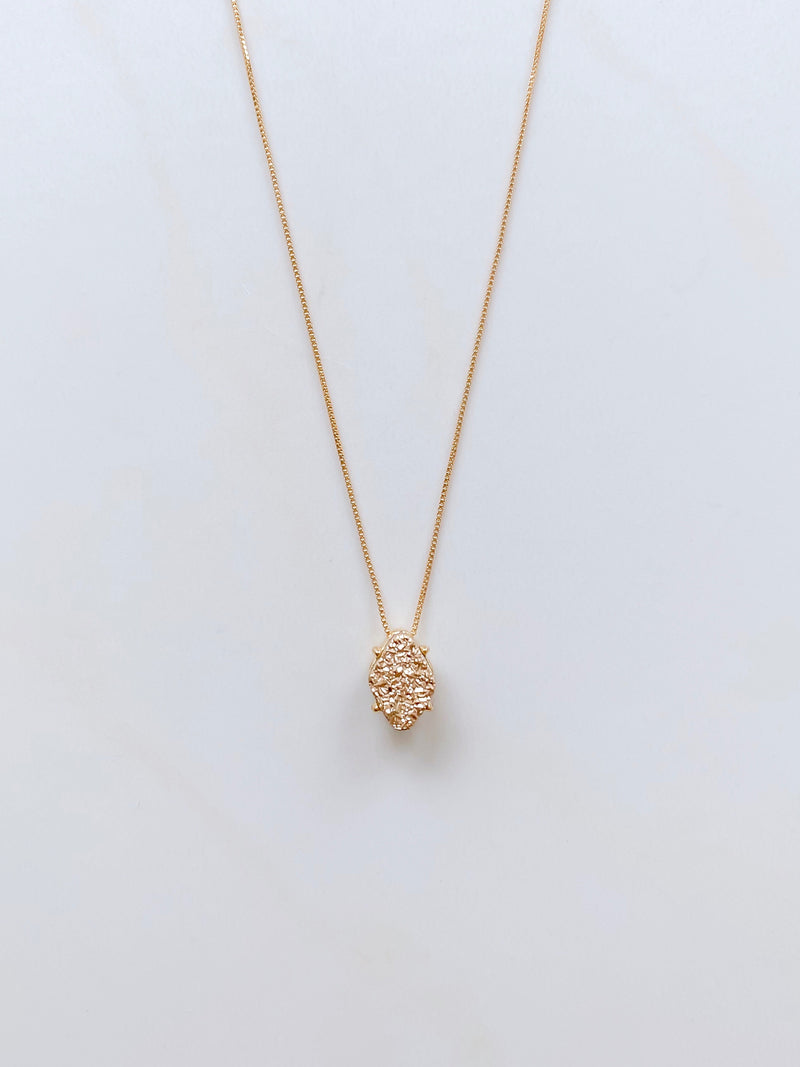 Awaken Gold Druzy  Necklace