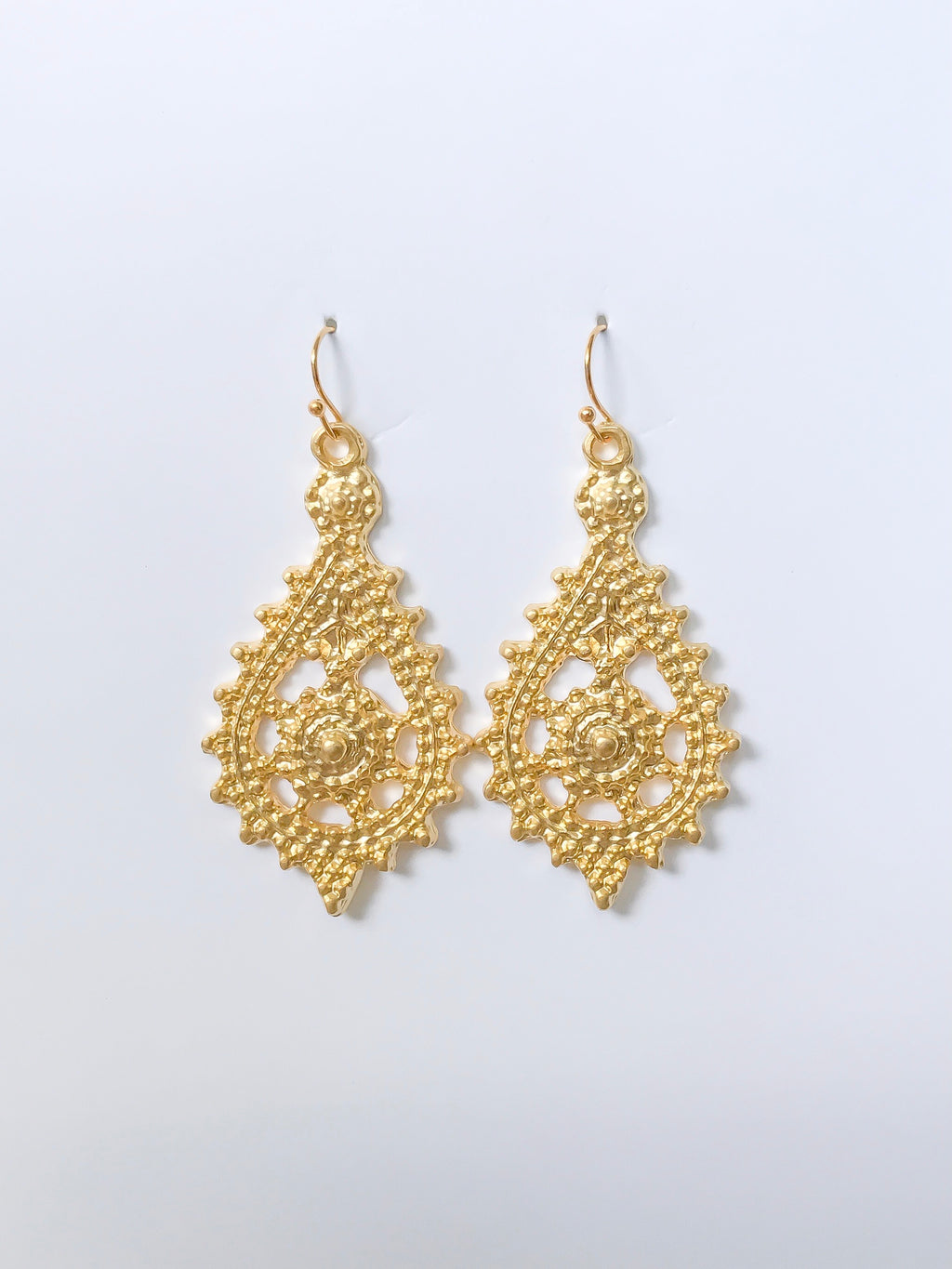 Midnight Oil Gold Earrings