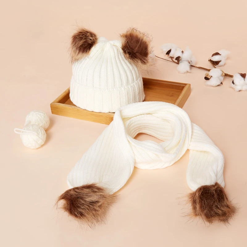 Casual Pom Hat and Scarf