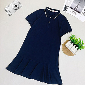 Woman Solid Polo Family Dress
