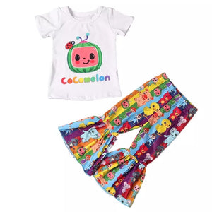 Cocomelon Ruffle Pants Set