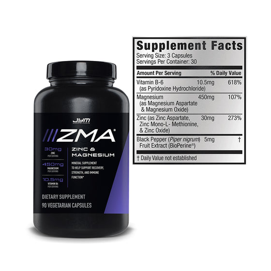 JYM ZMA Testosterone Support 90 Caps