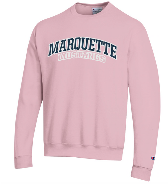 MHS Powerblend Crewneck Sweatshirt - Feather Pink