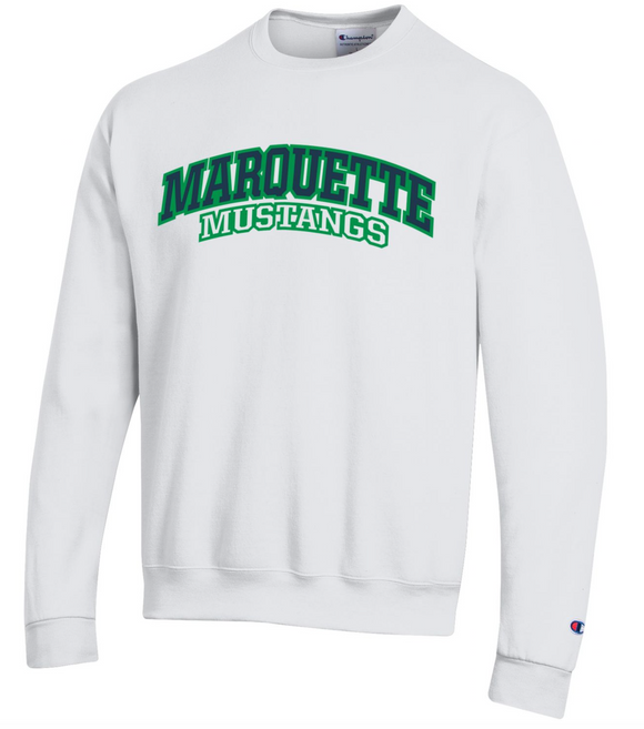 MHS Powerblend Crewneck Sweatshirt - White