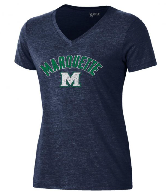 Women's Tri-Blend V-Neck T-Shirt - Navy