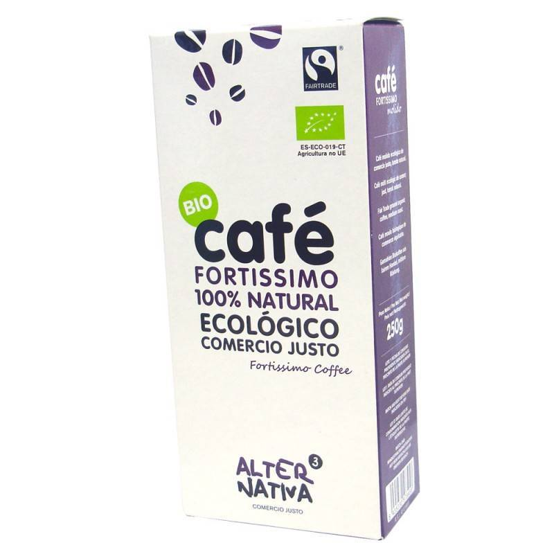 Cafe fortissimo molido ALTERNATIVA 3 (250 gr) BIO - Planeta Bio