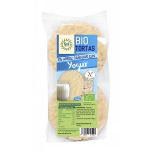 Tortitas de Arroz y Yogur Natural (6 ud) 100g. - Planeta Bio