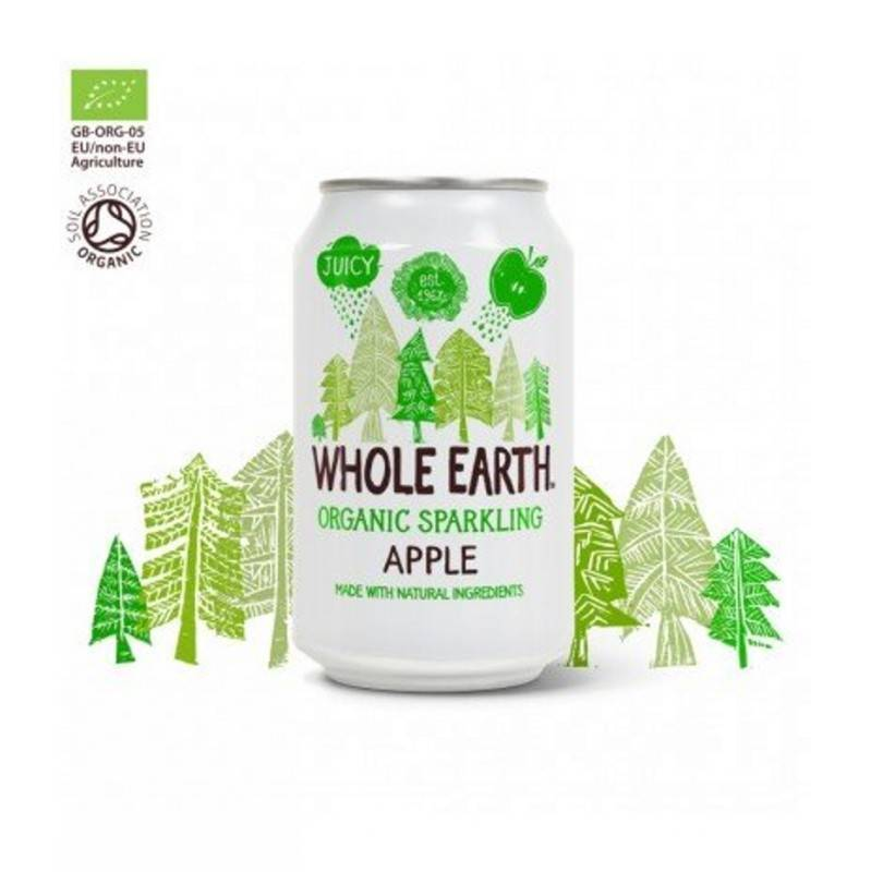 Refresco de Manzana Sin azúcar 330ml. WHOLE EARTH Refrescos sin azúcar - Planeta Bio