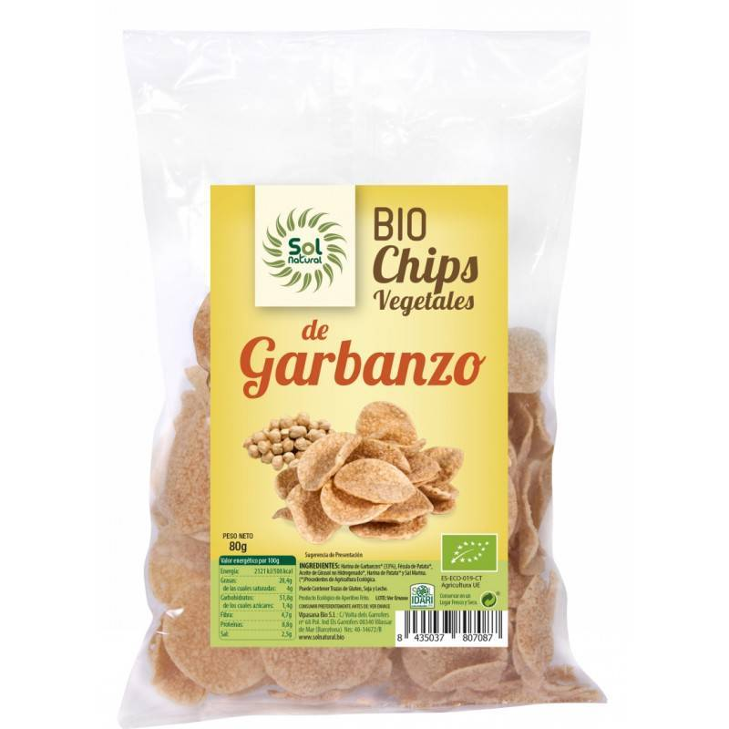 Bio Chips de Garbanzo 80g. SOL NATURAL chips garbanzo - Planeta Bio