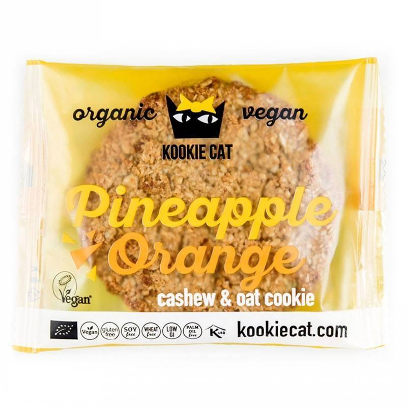 Galleta de Piña y Naranja 50g. KOOKIE CAT Galletas ecológicas - Planeta Bio
