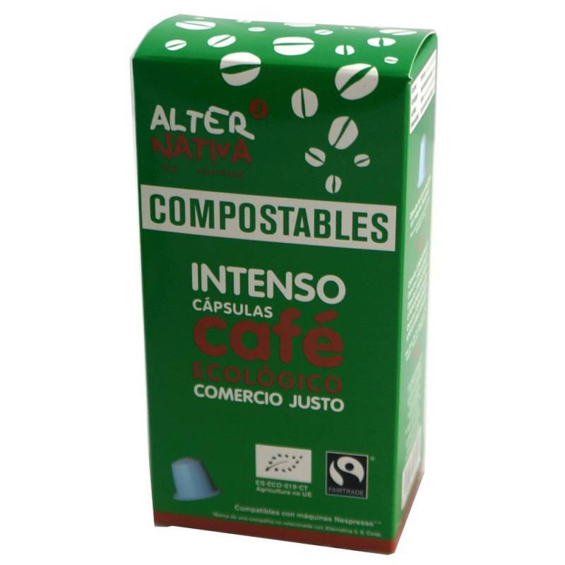 Cafe intenso ALTERNATIVA 3 (10 capsulas COMPOSTABLES) BIO - Planeta Bio