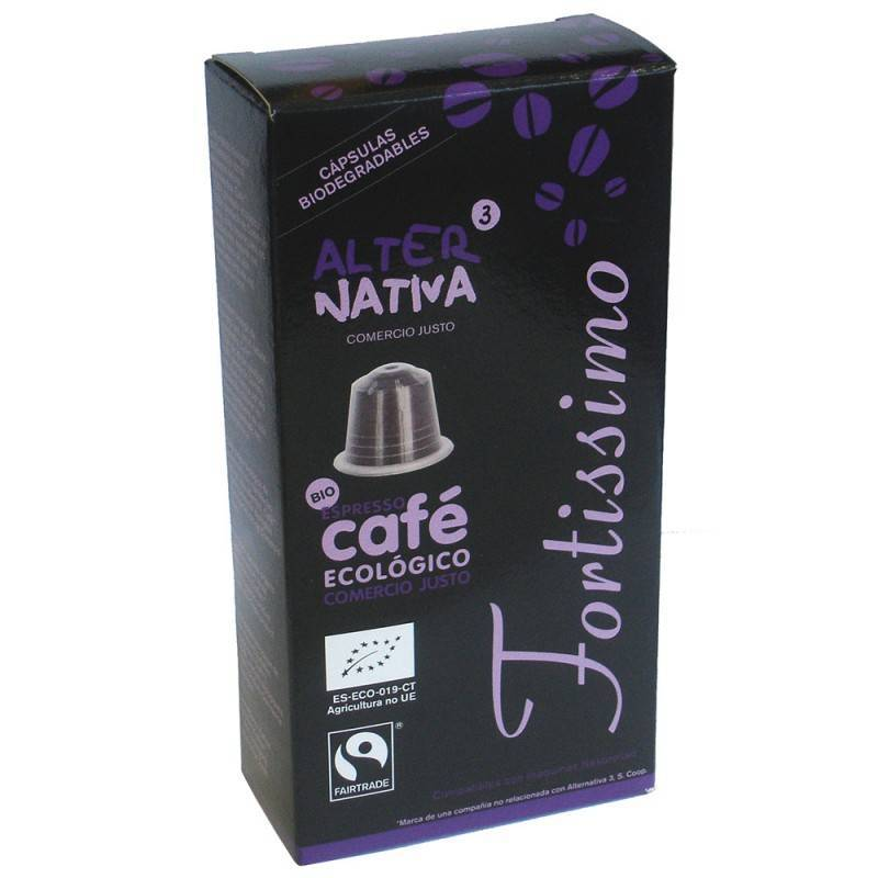 Cafe fortissimo ALTERNATIVA 3 (10 capsulas) BIO - Planeta Bio