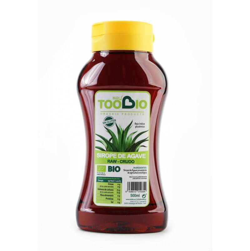 Sirope de Agave Crudo 500ml. TOO BIO Siropes y melazas - Planeta Bio