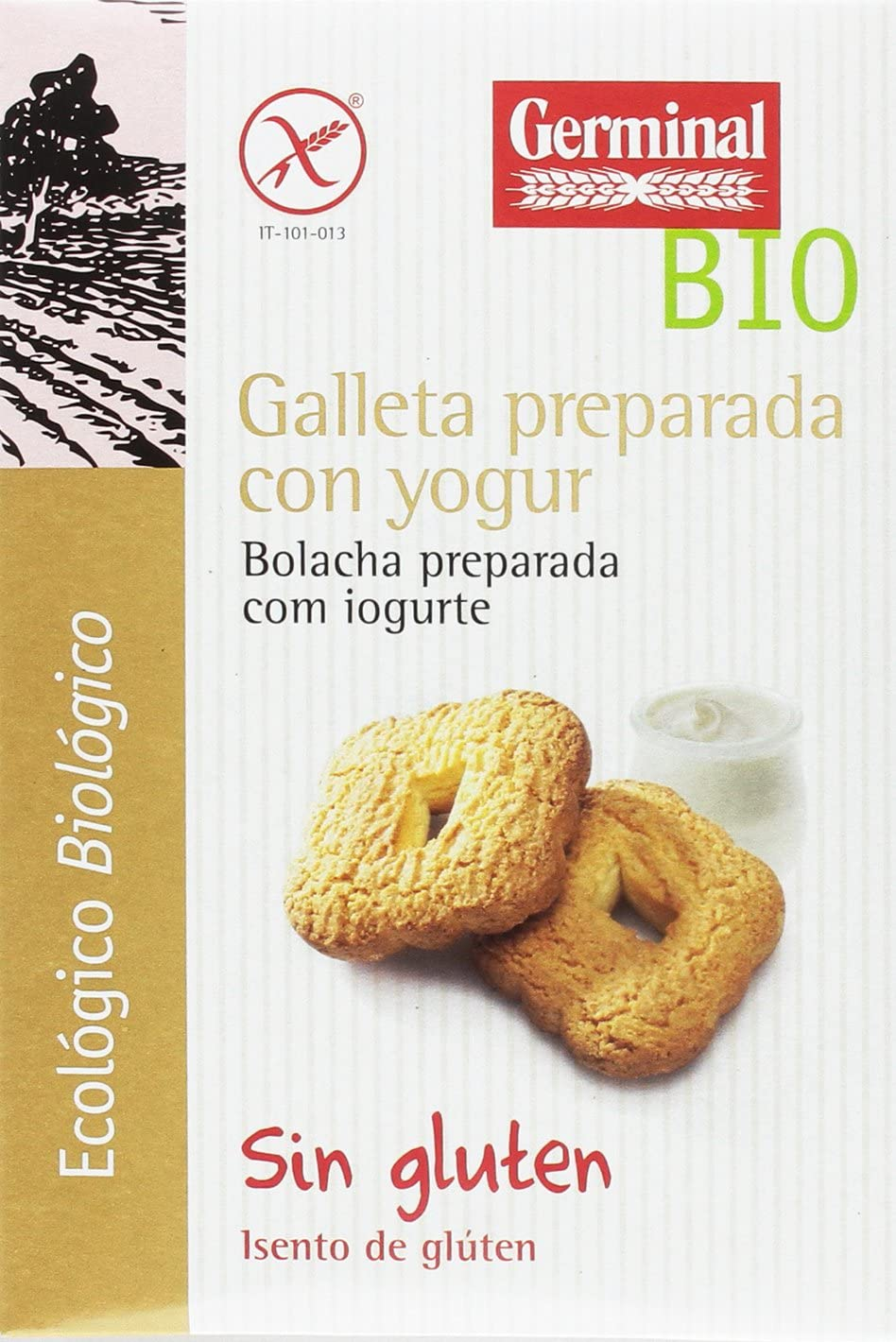 Galletas Preparada con Yogur Natural Sin Gluten 250g. GERMINAL Galletas ecológicas - Planeta Bio