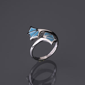 Double blue feet adjustable ring