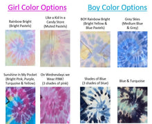 Load image into Gallery viewer, Tie-Dyed Baby Blanket and Bib Set (personalization included)