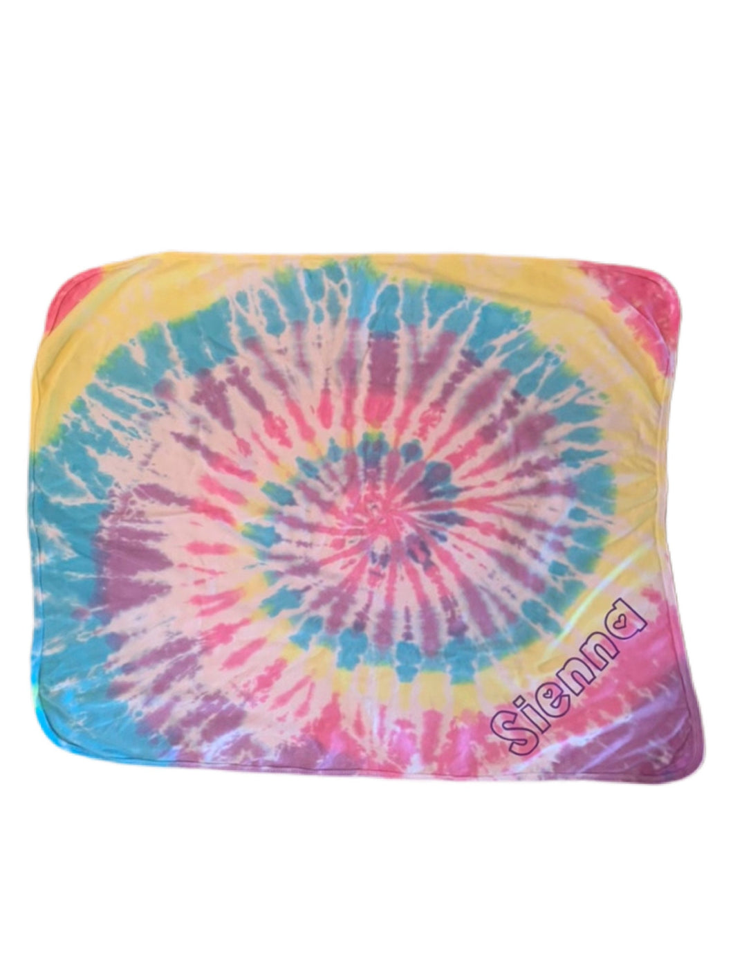Tie-Dyed Baby Blanket (personalization included)