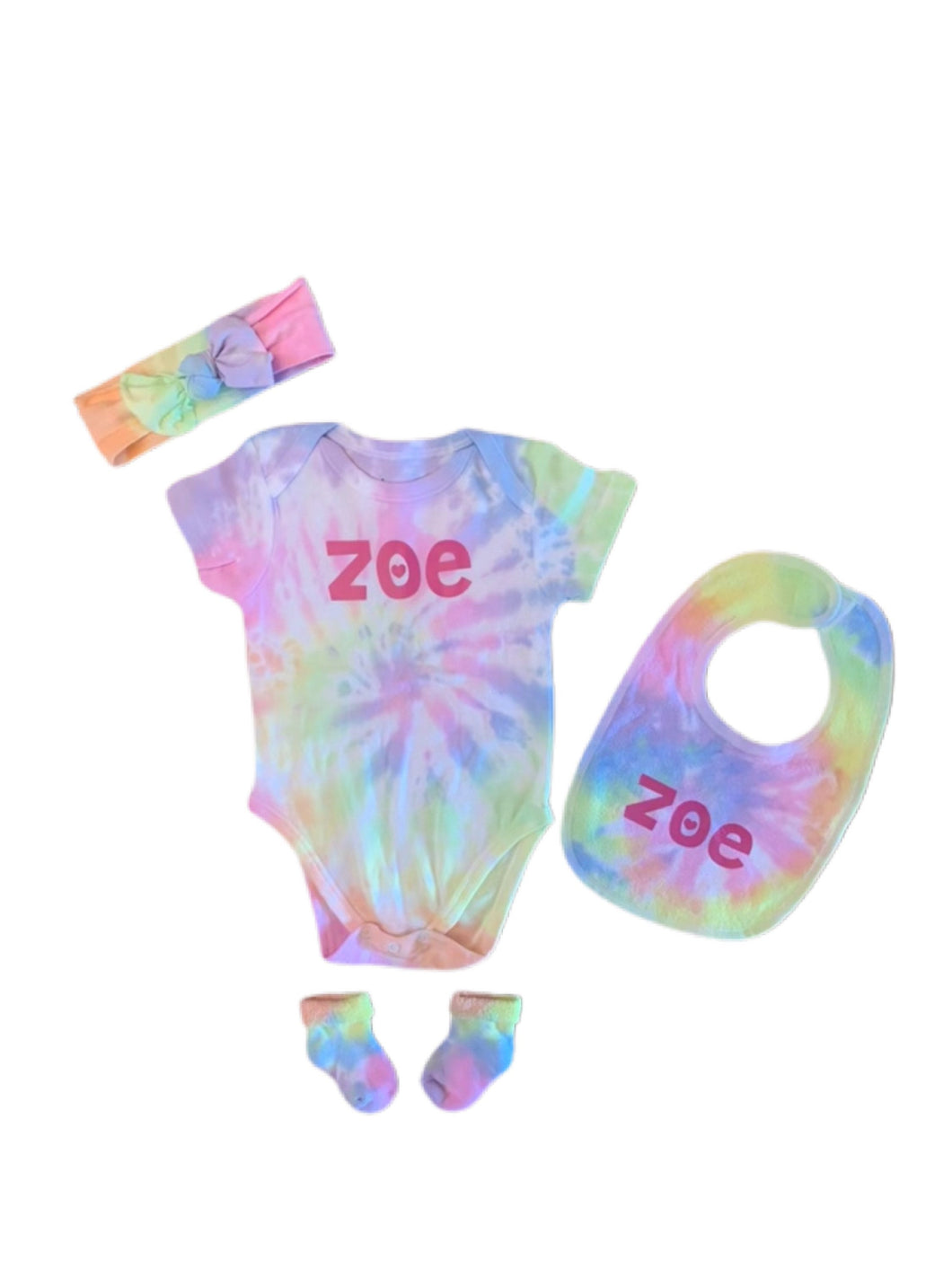 Baby Girl or Boy 4 Piece Personalized Baby Girl Set (personalization included)