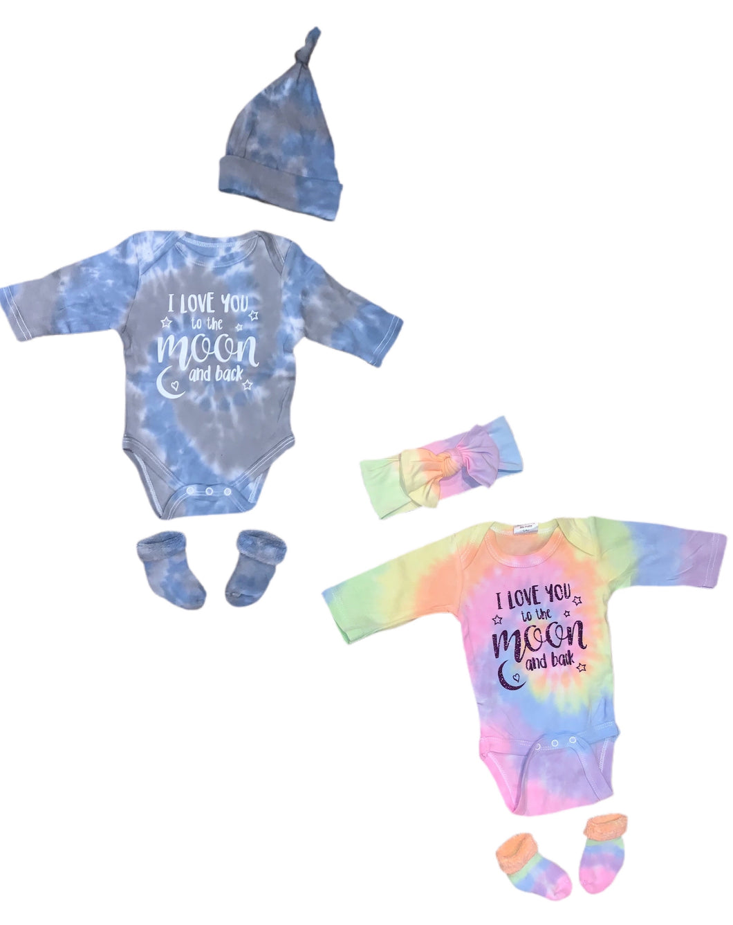 'I Love You To The Moon & Back' Onesie Set