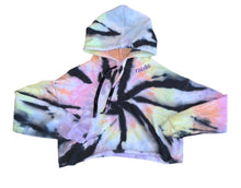 Load image into Gallery viewer, Tie-Dyed and Personalized Cropped Hoodie