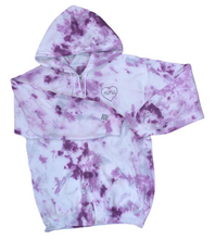 Load image into Gallery viewer, Women's Embroidered and Tie-Dyed Zip Up Hoodie (2 Embroidery Locations)