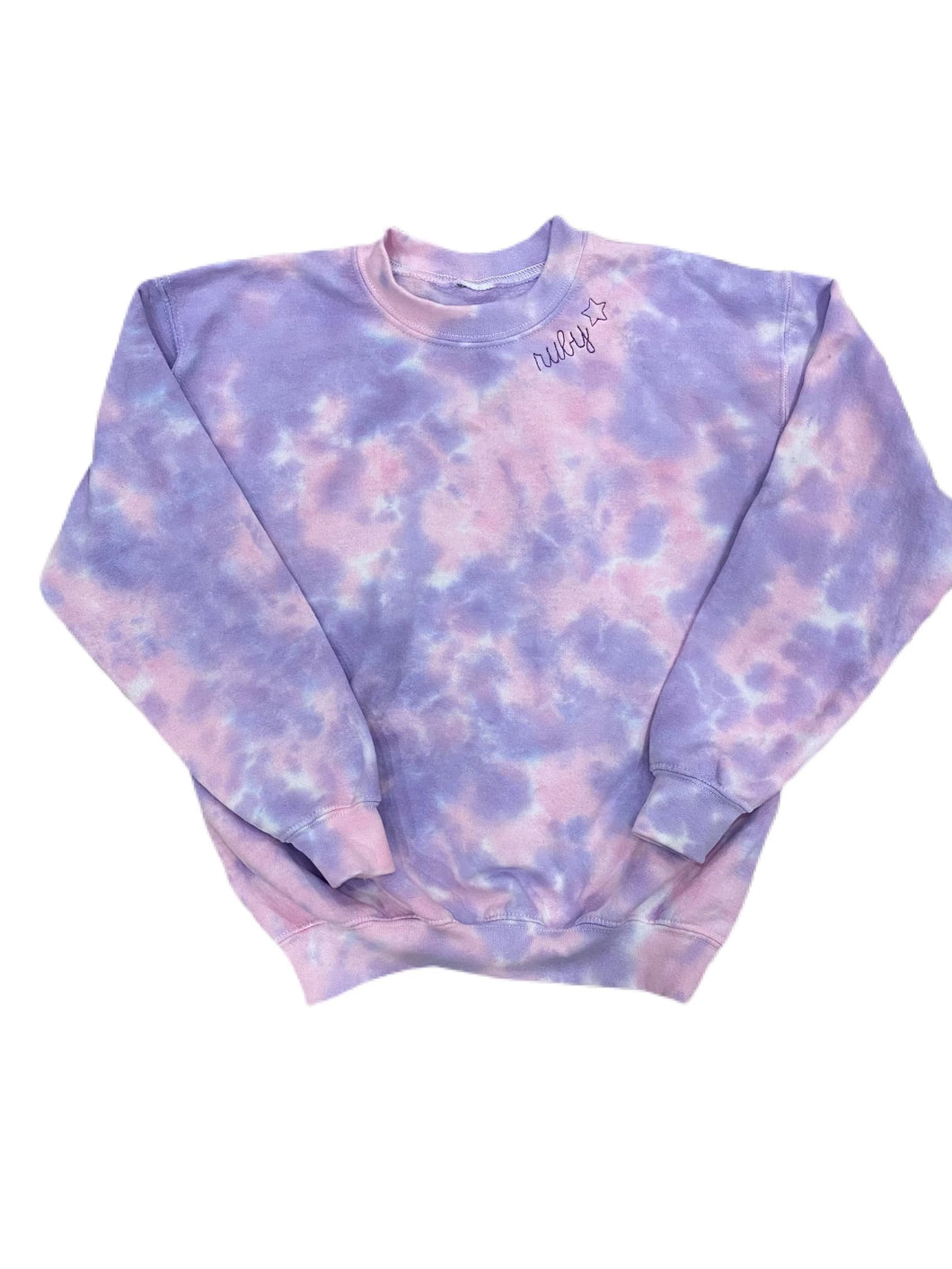 Toddlers / Kids' Embroidered & Tie Dye Crew Neck Sweatshirt