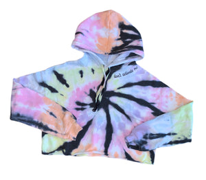 Tie-Dyed and Personalized Cropped Hoodie