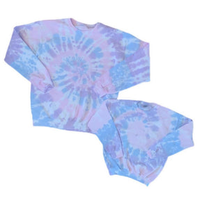 Mommy and Me Tie Dye Crew Neck Sweatshirts
