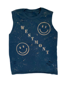 Custom Smiley Camp Reverse Muscle Tank